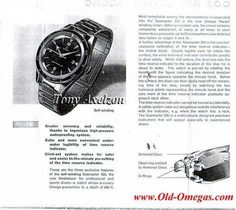 Omega Seamaster 300 de 1959